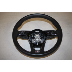 Multifunctiestuurwiel 3-spaaks leer zwart Audi A4, S4, A5, S5 Bj 16-heden