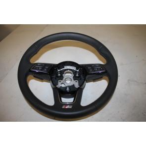 Multifunctiesportstuurwiel leer-geperf. zwart/rotsgrijs Audi A4, S4, A5, S5 Bj 16-heden