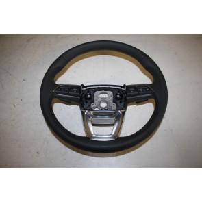 Multifunctiestuurwiel 3-spaaks leer zwart Audi A4, Q5, Q7 Bj 16-heden