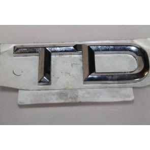 TD embleem achterkant chroom Audi 80 Bj 91-95