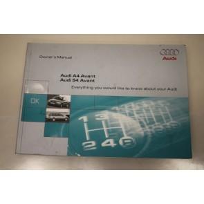 Instructieboekje engelstalig Audi A4, S4 Avant Bj 97-99