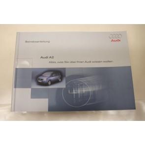 Instructieboekje duitstalig Audi A2 Bj 00-05