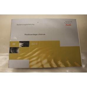 Instructieboekje duitstalig radio Chorus Audi A3, S3 Bj 97-01