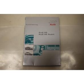 Beknopte handleiding duitstalig Audi A6 Bj 97-01