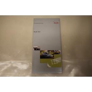 Beknopte handleiding duitstalig Audi A3 Bj 97-00