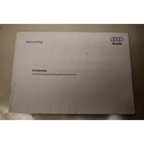 Aanvulling instructieboekje kinderzitje nederlandstalig div. Audi modellen Bj 01-05