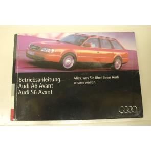 Instructieboekje duitstalig Audi A6, S6 Avant Bj 94-97
