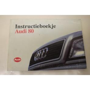 Instructieboekje nederlandstalig Audi 80 Bj 91-95