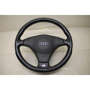 Sportstuurwiel leer zwart Audi Cabriolet, A4, S4, A6, S6, A8, S8 Bj 92-03