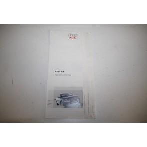 Beknopte handleiding duitstalig Audi A4 Bj 05-08