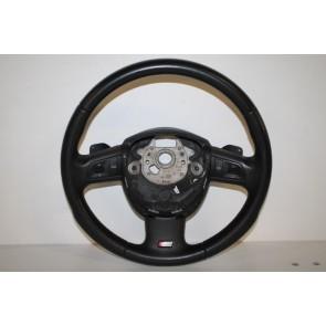 Multifunctiesportstuurwiel leer-geperf. zwart Audi A4, A6, Q7 Bj 05-09