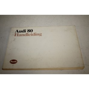 Instructieboekje nederlandstalig Audi 80 Bj 86-91