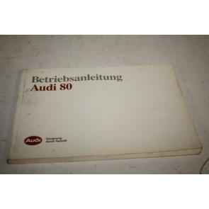 Instructieboekje duitstalig Audi 80 Bj 86-91
