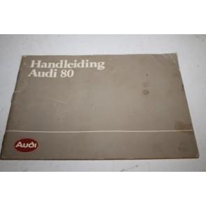 Instructieboekje nederlandstalig Audi 80 Bj 81-84