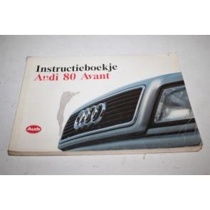 Instructieboekje nederlandstalig Audi 80 Avant Bj 91-95