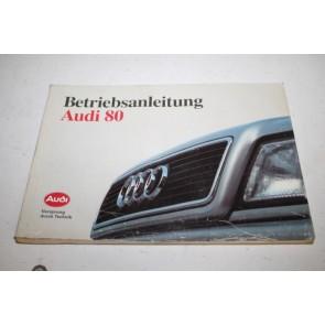 Instructieboekje duitstalig Audi 80 sedan Bj 91-95