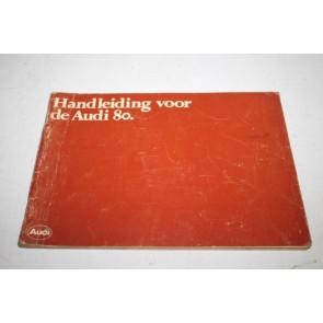 Instructieboekje nederlandstalig Audi 80 Bj 78-81