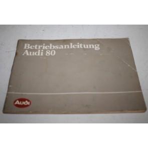 Instructieboekje duitstalig Audi 80 Bj 81-84