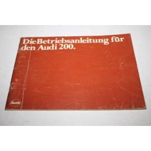 Instructieboekje duitstalig Audi 200 Bj 80-82