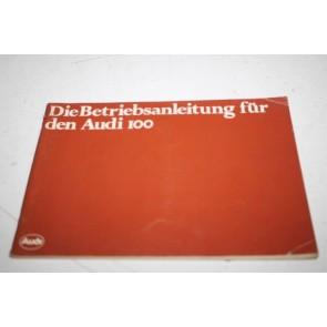 Instructieboekje duitstalig Audi 100 Bj 76-82