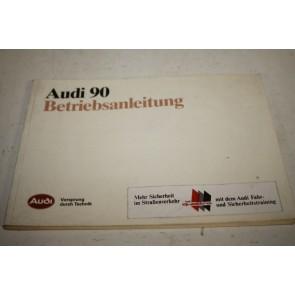 Instructieboekje duitstalig Audi 90 Bj 87-91