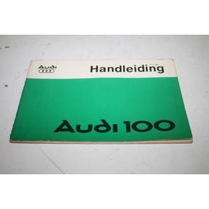 Instructieboekje nederlandstalig Audi 100 Bj 76-82