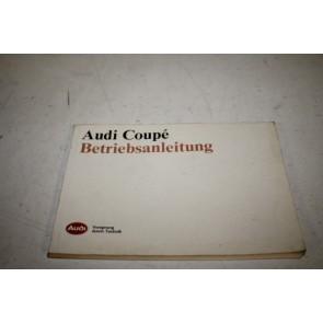 Instructieboekje duitstalig Audi Coupe Bj 88-91