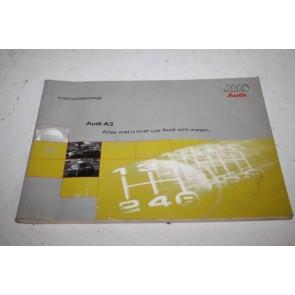 Instructieboekje nederlandstalig Audi A3 Bj 96-00