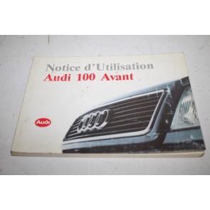 Instructieboekje franstalig Audi 100 Avant Bj 91-94