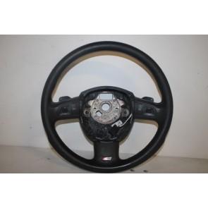 Multifunctiesportstuurwiel leer zwart Audi A4, A6, Q7 Bj 05-09