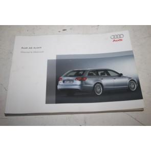 Instructieboekje engelstalig Audi A6 Avant Bj 05-08