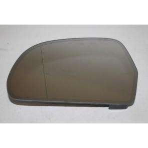 Spiegelglas (groothoek) met draagplaat links div. Audi modellen Bj 08-13