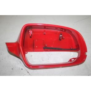 Afdekkap spiegel rechts briljantrood div. Audi modellen Bj 08-17