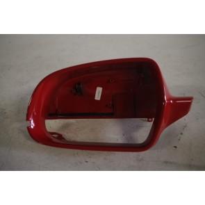 Afdekkap spiegel links briljantrood div. Audi modellen Bj 08-17