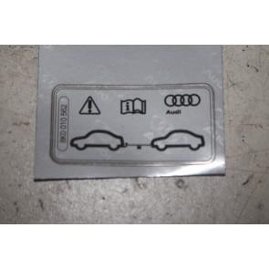 Sticker afslepen met trekhaak div. Audi modellen Bj 08-heden