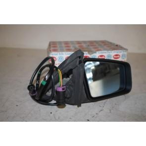 Buitenspiegel (convex) rechts  zwart Audi 100, 200, V8 Bj 88-94