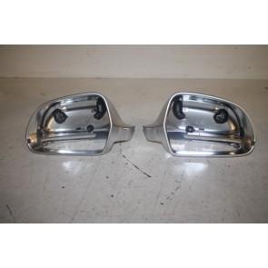 Set spiegelkappen aluminium Audi A3, S3, A4, S4, A5, S5, A6, S6, A8, S8 Bj 08-13