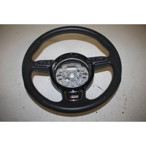 S-line Multifunctiesportstuurwiel leer-geperf. zwart Audi A1, A6, A7 Bj 11-heden