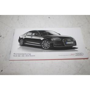 Beknopte handleiding duitstalig Audi A6, S6, RS6 Bj 14-18