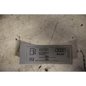 Sticker 'Loodvrije benzine' div. Audi modellen Bj 01-heden