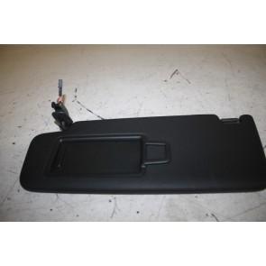 Zonneklep met spiegel en afdekschuif links zwart div. Audi modellen Bj 16-heden