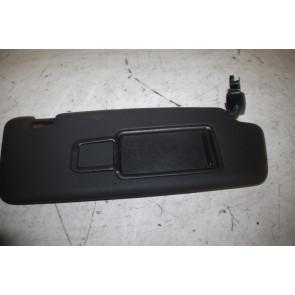 Zonneklep met spiegel en afdekschuif rechts zwart div. Audi modellen Bj 11-18