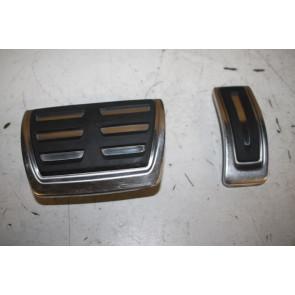Set pedaalkappen edelstaal ENGELS Audi A4, S4, A5, S5, Q5, SQ5 Bj 08-17