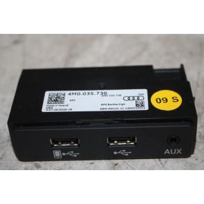 Aansluiting externe audiobronnen Audi A4, S4, Q7, SQ7, R8 Bj 16-heden