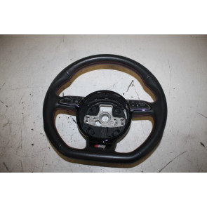 Multifunctiesportstuurwiel afgevlakt leder zwart/tomato red Audi A1, S1 Bj 15-18