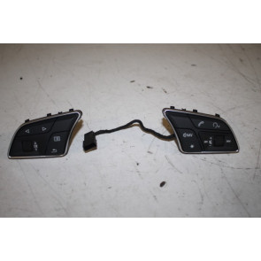 Set multifunctietoetsen stuurwiel zwart/chroom Audi A3, S3, RS3, Q2 Bj 17-heden