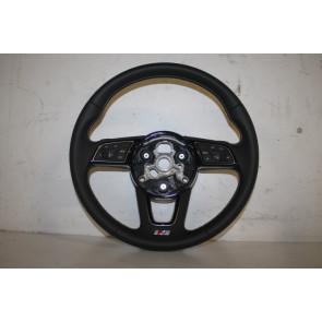 Multifunctiesportstuurwiel leer zwart/rotsgrijs Audi A4, S4, A5, S5 Bj 16-heden