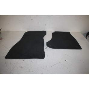 1 set vloermatten voorzijde ENGELS zwart/rotsgrijs Audi A4, S4, RS4, A5, S5, RS5 Bj 16-heden