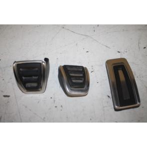 1 set pedaalkappen edelstaal ENGELS div. Audi modellen Bj 13-heden