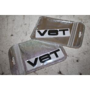 Set emblemen V6T zwart Audi A4, S4, A5, S5, A6, A7, Q5, SQ5, Q7 Bj 08-heden